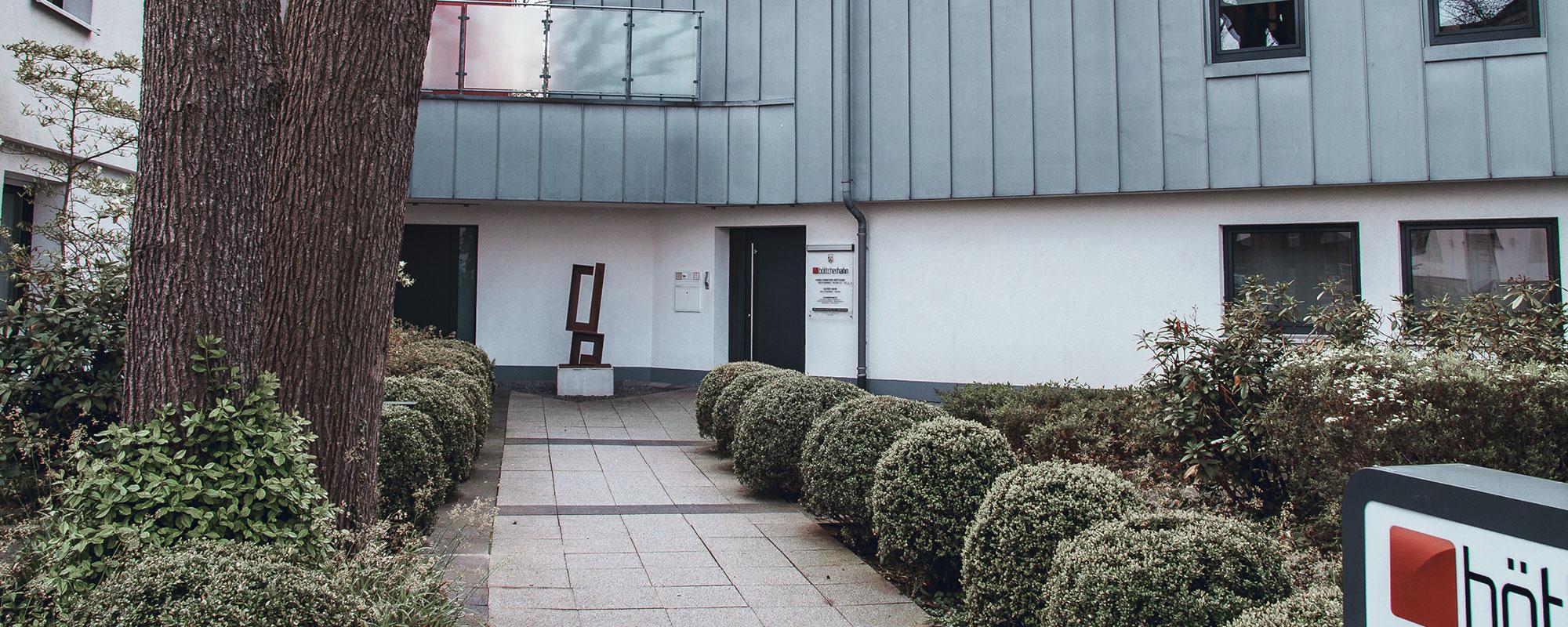 böttcher.hahn Eingang Sozietät Wellinghofer Amtsstraße